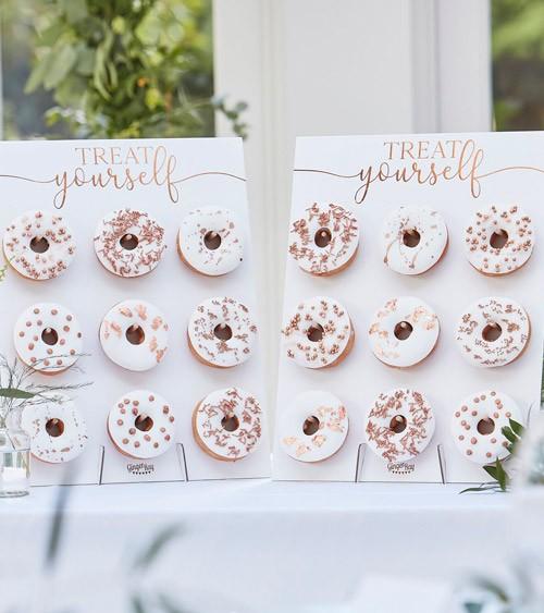 """Donut-Wand """"Treat yourself"""" - mit Kupferaufdruck - 2 Stück"""