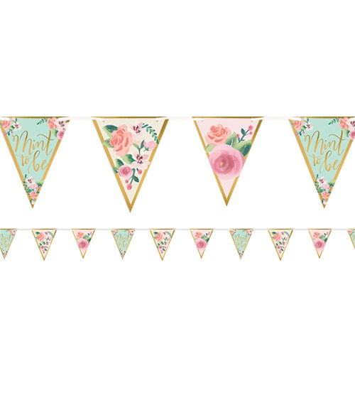 """DIY Wimpelgirlande """"Mint to Be"""" - 4,6 m"""