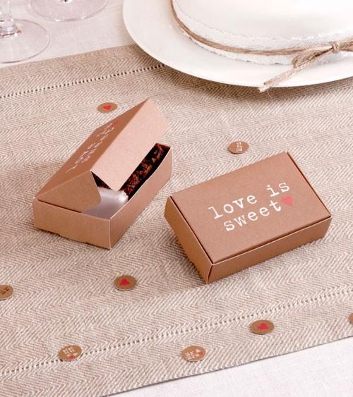 """Gastgeschenkboxen """"Love is sweet"""" - 10 Stück"""