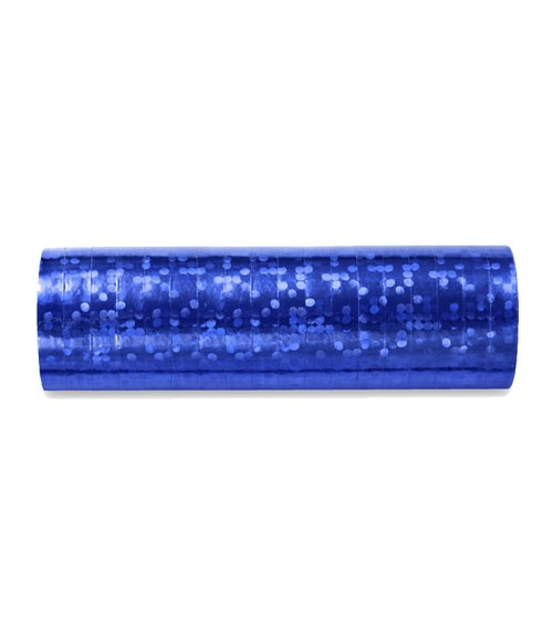 """Papierluftschlange """"Holographic"""" - dunkelblau"""