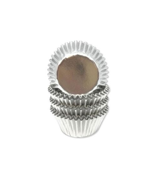 """Pralinenförmchen """"Metallic Silber"""" - 60 Stück"""