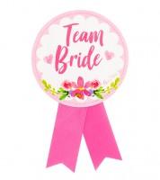 Team Bride-Orden aus Papier - 13 cm
