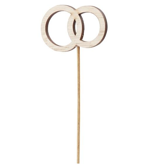 """Holzstecker """"Ringe"""" - 6 x 4 cm"""