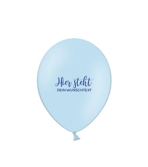 """Deine Luftballons """"Wunschtext"""" - pastell - 100 Stück"""