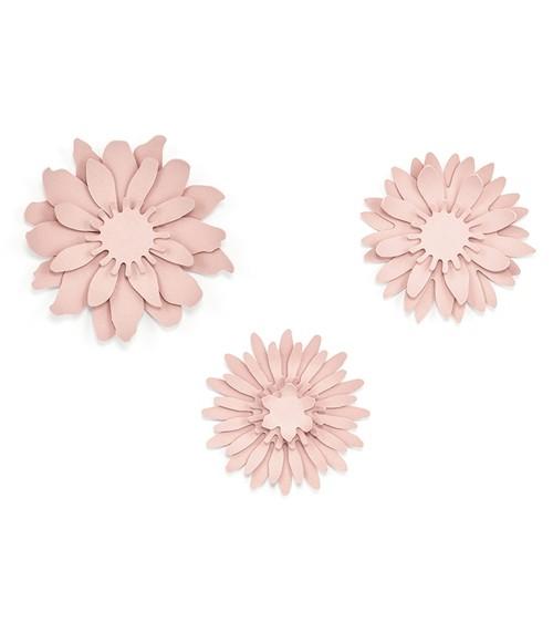 "DIY-Papierdeko ""Blüten"" - puderrosa - 3 Stück"