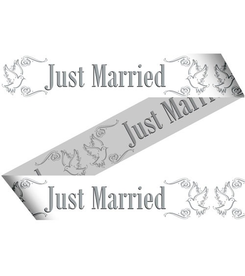 """Absperrband """"Just Married - Tauben"""" - 15 m"""