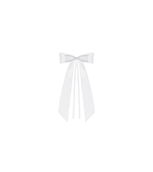 Schleifen mit kleiner Schleife - weiß - 4 Stück
