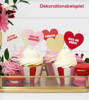 "Cupcake-Picks ""Sweet Love"" - 6 Stück"