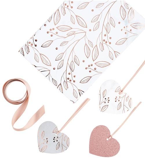 "Geschenkverpackungs-Set ""Floral Rosegold"" - 9-teilig"