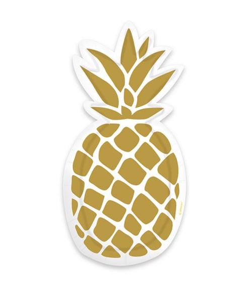 """Shape-Pappteller """"Pineapple Vibes""""- 6 Stück"""