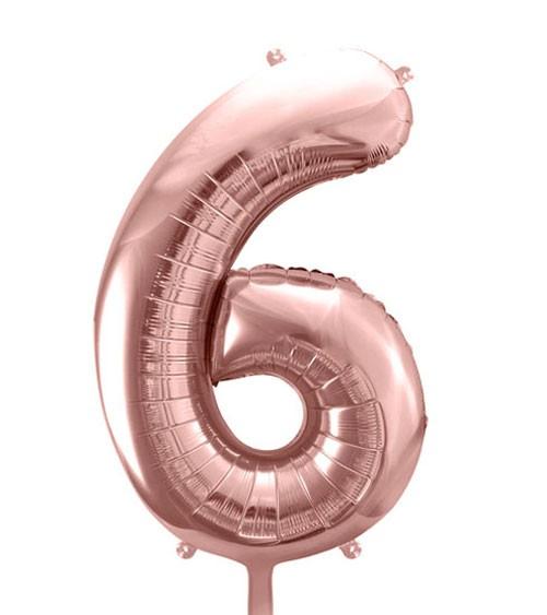 "SuperShape Folienballon ""6"" - rosegold"