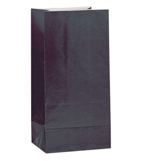 12 Papiertüten - schwarz