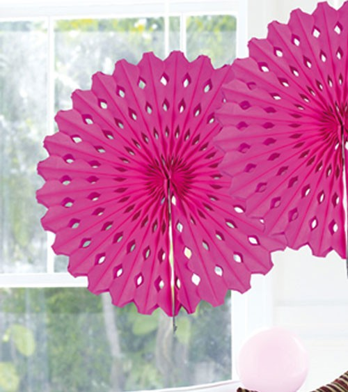 Papier-Deko-Fächer - 45 cm - pink