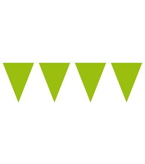 Mini-Wimpelgirlande aus Kunststoff - hellgrün - 3 m