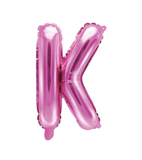 "Folienballon Buchstabe ""K"" - pink - 35 cm"