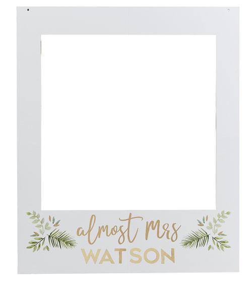 """Photobooth-Rahmen mit Stickern """"Botanical Bride"""" - 60 x 72 cm"""