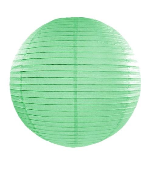 Papierlampion - mint - 35 cm