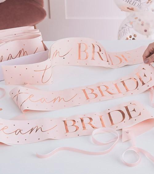Team Bride Schärpen - blush, rosegold - 6 Stück