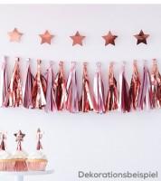 DIY-Tasselgirlande - rosa/rosegold metallic - 1,5 m