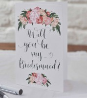 "Boho-Karten ""Will You Be My Bridesmaid"" - 5 Stück"