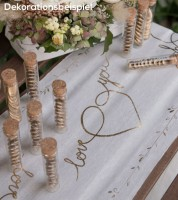"""Just Married-Tischläufer """"Gold & White"""" - 30 cm x 3 m"""
