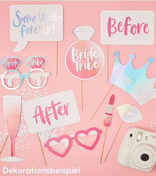 "Photobooth-Set ""Bride Tribe"" - 10-teilig"