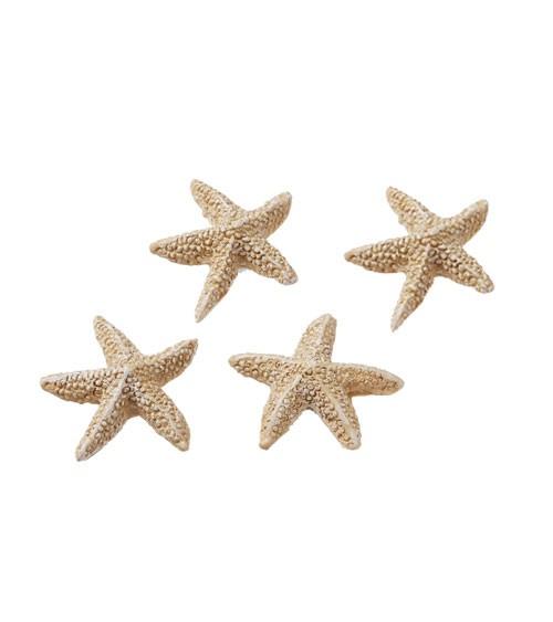 Seesterne aus Polyresin - 2 cm - 4 Stück