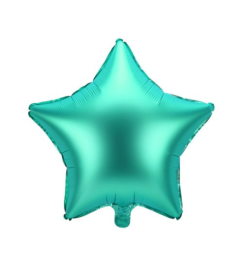 Stern-Folienballon - satin grün - 48 cm