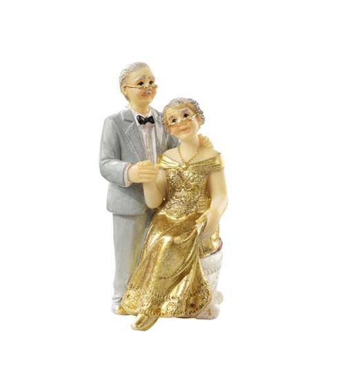 Deko Figur Goldene Hochzeit 75 Cm