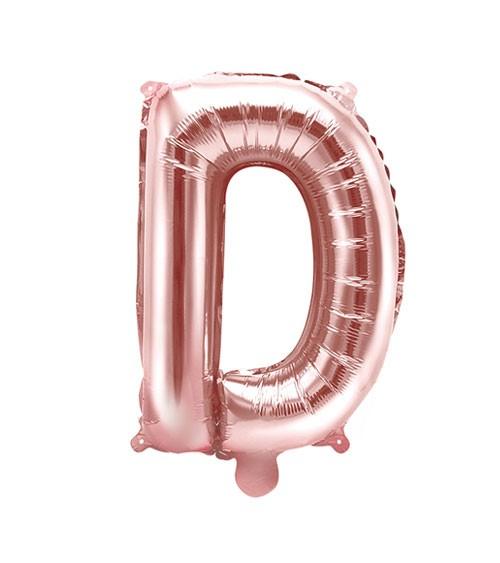 """Folienballon Buchstabe """"D"""" - rosegold - 35 cm"""