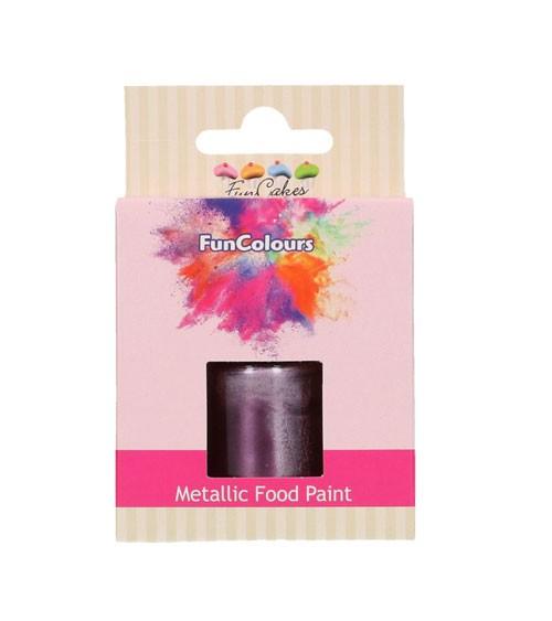 FunCakes Lebensmittelfarbe - metallic lila - 30 ml