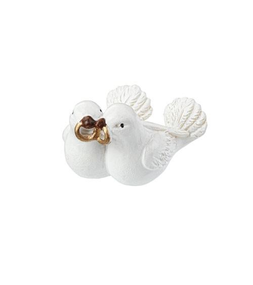 """Deko-Figur """"Taubenpaar mit Ringen"""" - 3 cm"""