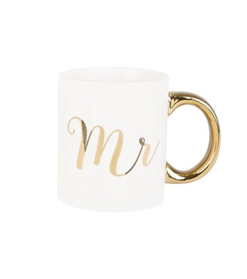 """Tasse aus Porzellan """"Mr"""" - gold"""