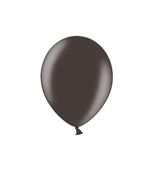 Mini-Luftballons - metallic schwarz - 12 cm - 100 Stück