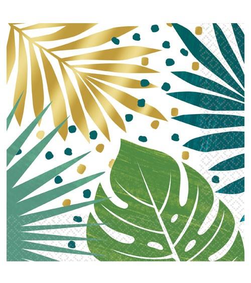 """Servietten """"Tropical Gold"""" - 16 Stück"""