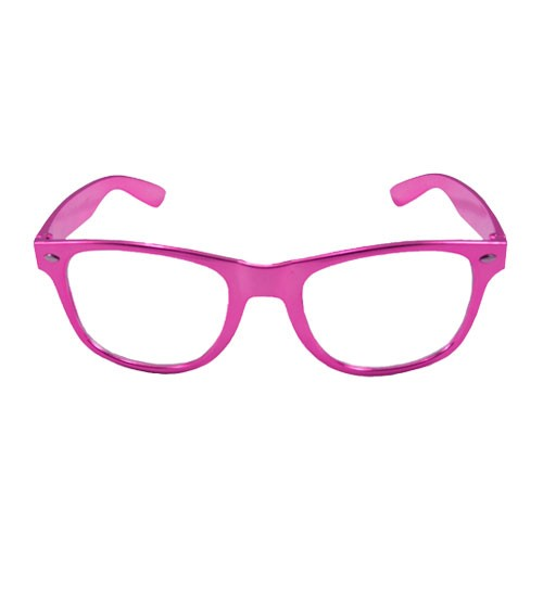 Party-Brille - metallic pink