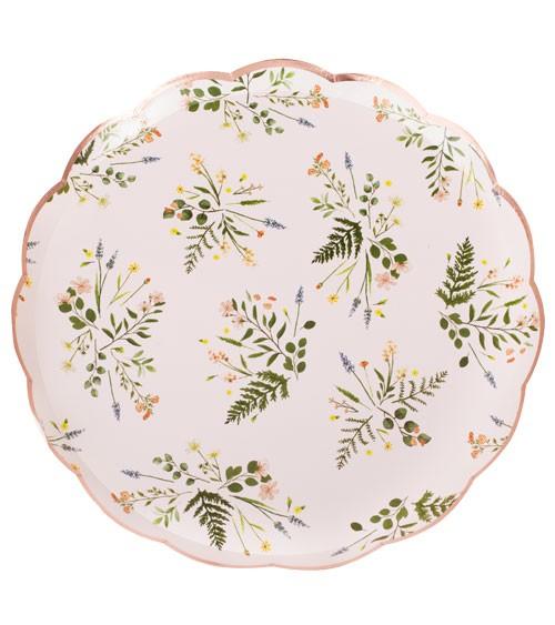 """Pappteller """"Botanical Tea Party"""" - 8 Stück"""