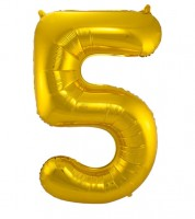 "SuperShape Folienballon ""5"" - gold"