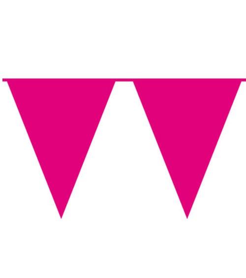 XL-Wimpelgirlande aus Kunststoff - pink - 10 m