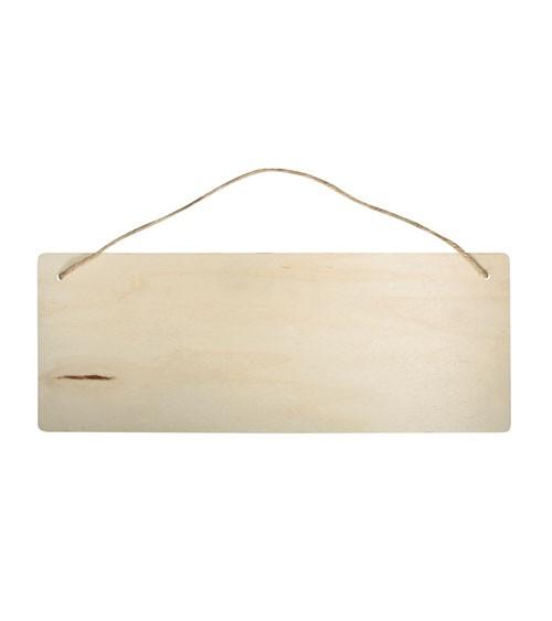 """Holzschild """"Rechteck"""" - natur - 40 x 15 cm"""