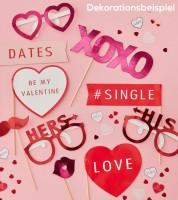 "Photobooth-Set ""Be My Valentine"" - 10-teilig"