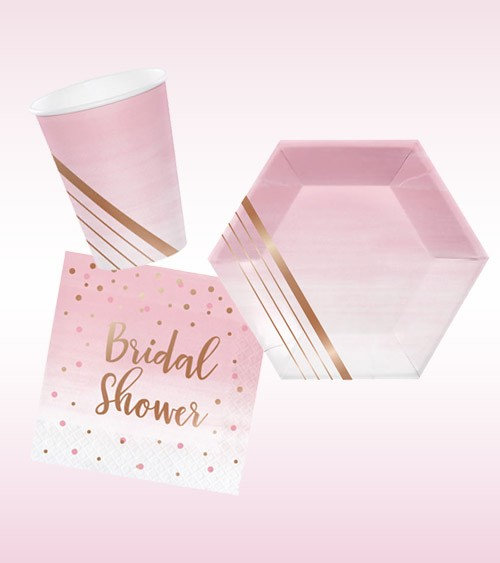 "Bridal Shower Deko-Set ""Rosé all Day"" - 32-teilig"