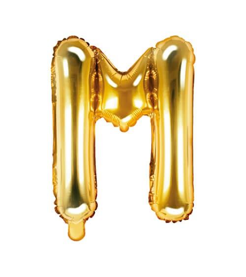 "Folienballon Buchstabe ""M"" - gold - 35 cm"