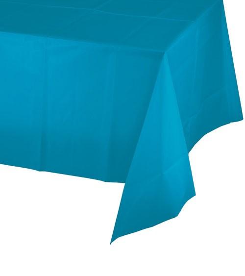 Kunststoff-Tischdecke - türkisblau - 137 x 274 cm