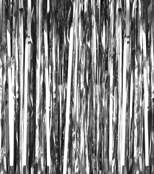 Glitzer-Vorhang - silber - 0,9 x 2,5 m