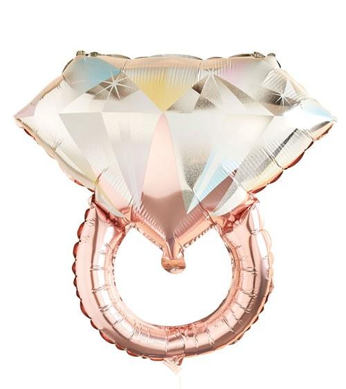 "SuperShape-Folienballon ""Diamantring"" - rosegold - 66 cm"