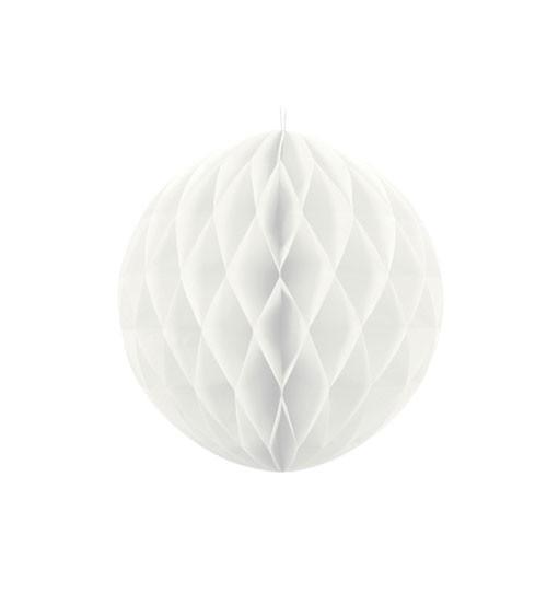 Wabenball - 10 cm - weiß