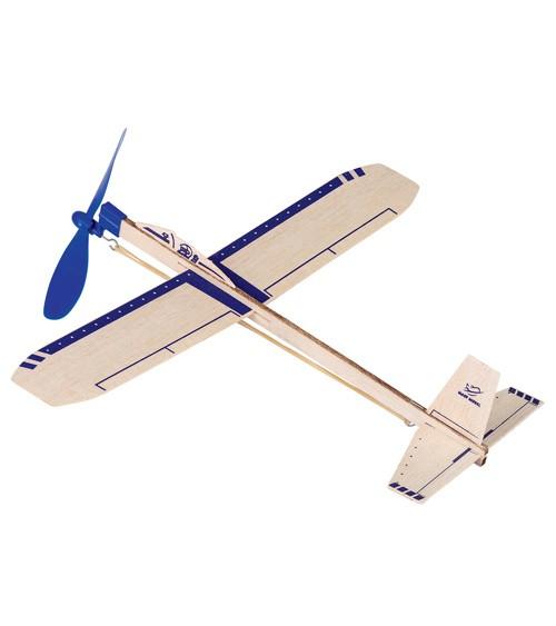 "Segelflugzeug ""Eagle Jet"" mit Gummimotor - 35,5 cm"