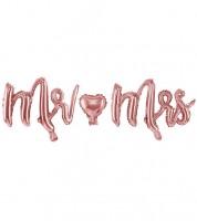 "Folienballon-Set ""Mr & Mrs"" - rosegold - 3-teilig"