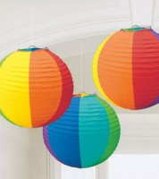 "Lampion-Set ""Regenbogen"" - 3-teilig"